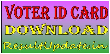 How To Download Online Voter Id Card